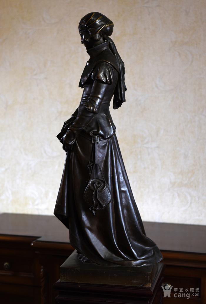 19世纪法国雕塑大师E.Aizelin大型杰作玛格丽特图4