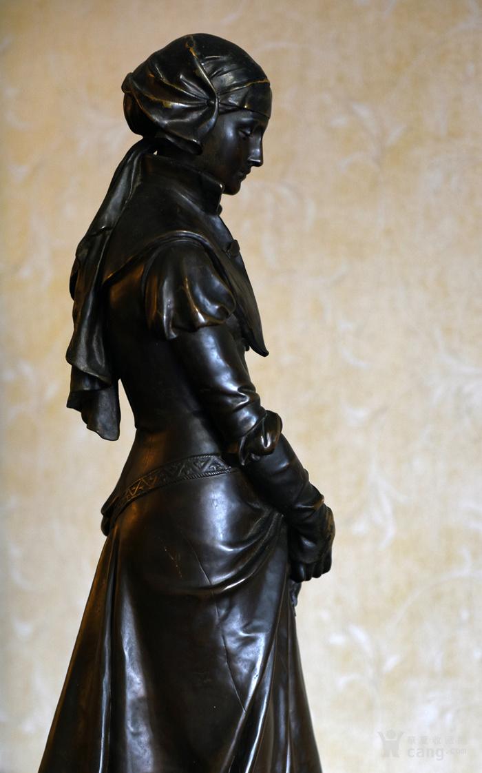 19世纪法国雕塑大师E.Aizelin大型杰作玛格丽特图6