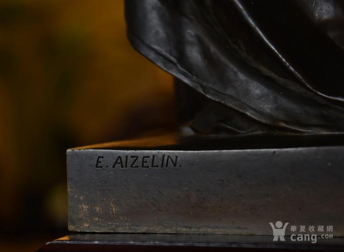19世纪法国雕塑大师E.Aizelin大型杰作玛格丽特图7