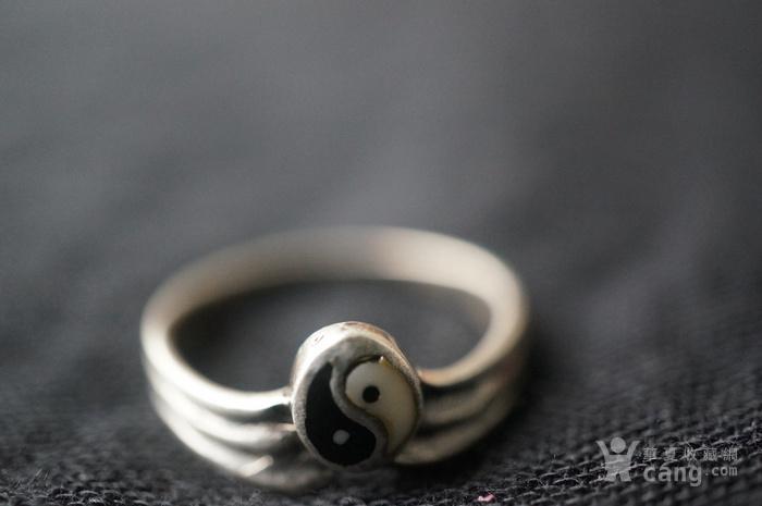 欧美纯银925阴阳鱼戒指特价图5