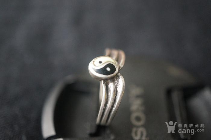 欧美纯银925阴阳鱼戒指特价图7