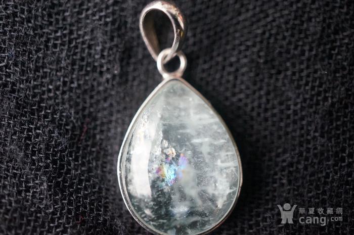 纯银天然月亮宝石吊坠特价图3