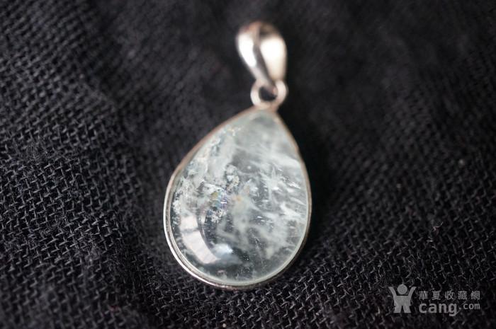 纯银天然月亮宝石吊坠特价图1
