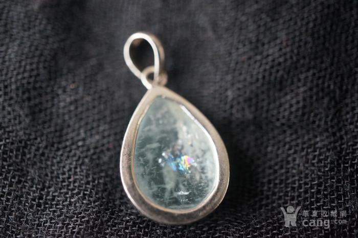 纯银天然月亮宝石吊坠特价图2