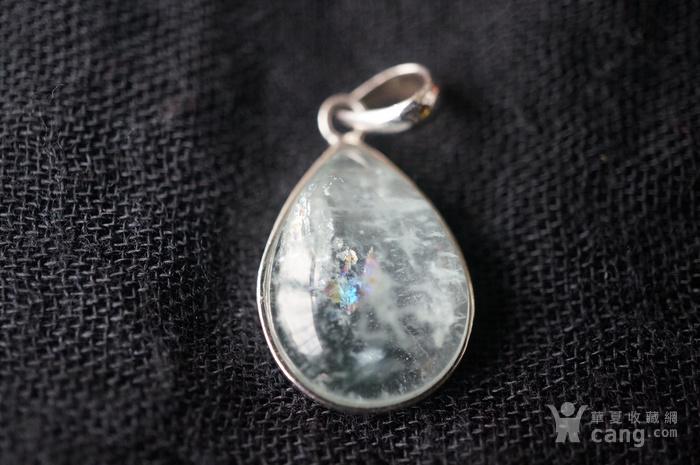 纯银天然月亮宝石吊坠特价图6