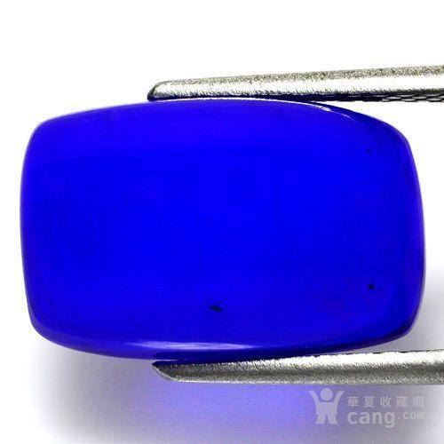 蓝欧泊石 纯天然无任何处理欧珀 7.65克拉垫型 极靓七彩图2