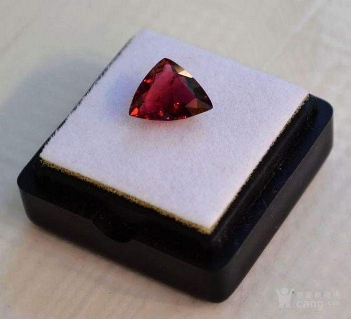 紫红色碧玺 尼日利亚纯天然紫红色碧玺2.08克拉图2