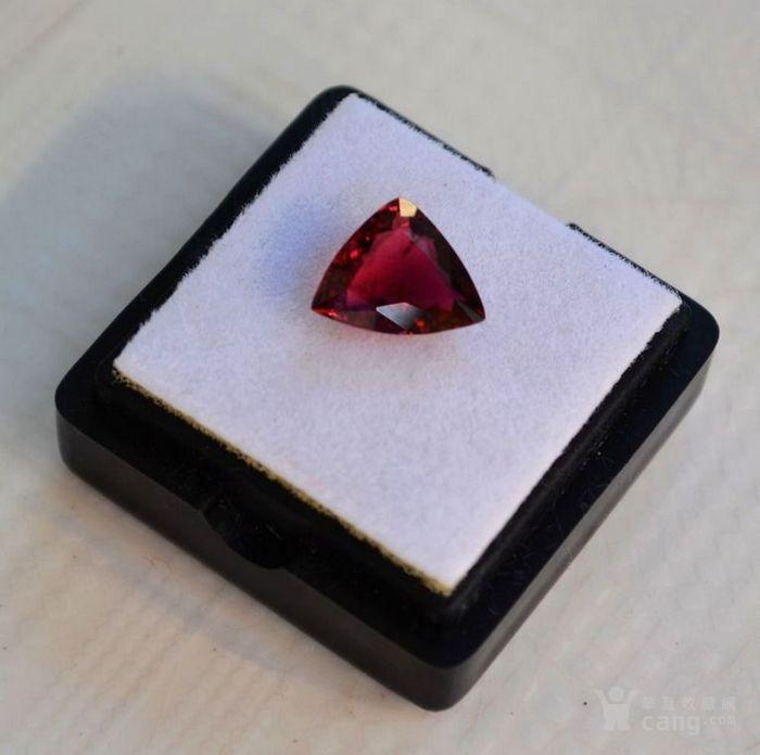 紫红色碧玺 尼日利亚纯天然紫红色碧玺2.08克拉图1
