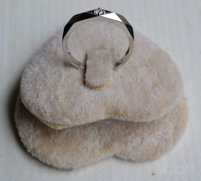 钻戒 18K金镶天然南非钻石戒指 7分裸钻 男士秀气款式图3