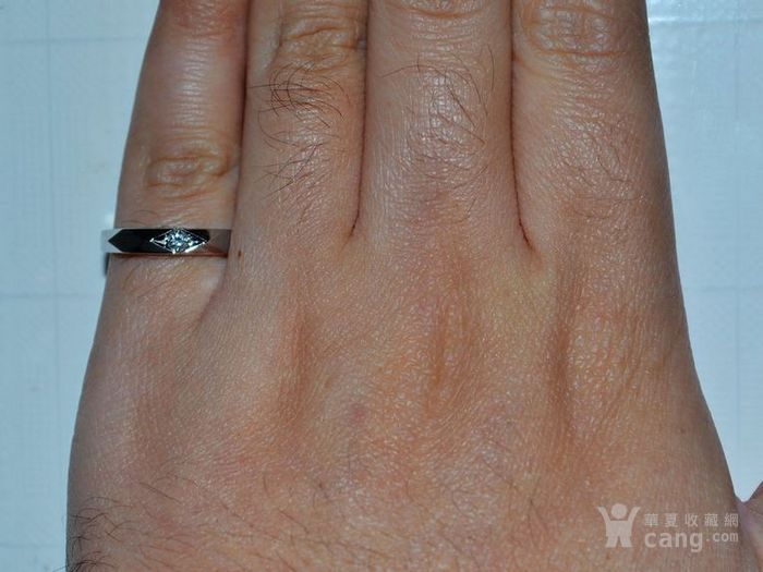 钻戒 18K金镶天然南非钻石戒指 7分裸钻 男士秀气款式图4