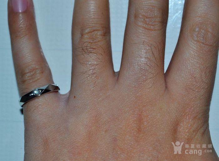 钻戒 18K金镶天然南非钻石戒指 7分裸钻 男士秀气款式图5