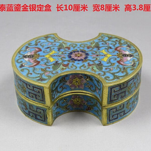 景泰蓝鎏金斧头盒