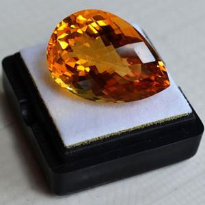 黄水晶 21.07克拉纯天然无加热巴西黄水晶 旺财石