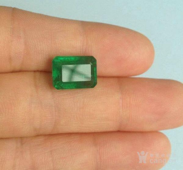 祖母绿宝石戒面 收藏级天然哥伦比亚祖母绿5.64克拉图2