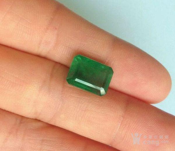 祖母绿宝石戒面 收藏级天然哥伦比亚祖母绿5.64克拉图3