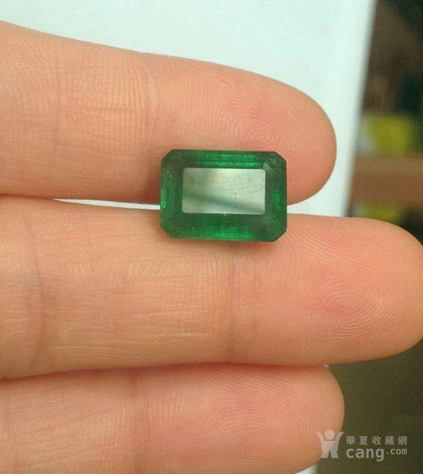 祖母绿宝石戒面 收藏级天然哥伦比亚祖母绿5.64克拉图1