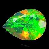 欧泊石 纯天然无任何处理欧珀 1.78克拉水滴型 极靓