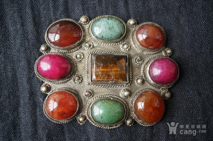 欧洲古董多宝镶嵌大胸针图2