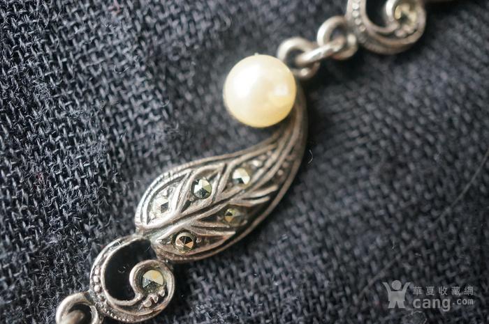 欧美纯银925镶嵌珍珠手链特价图3