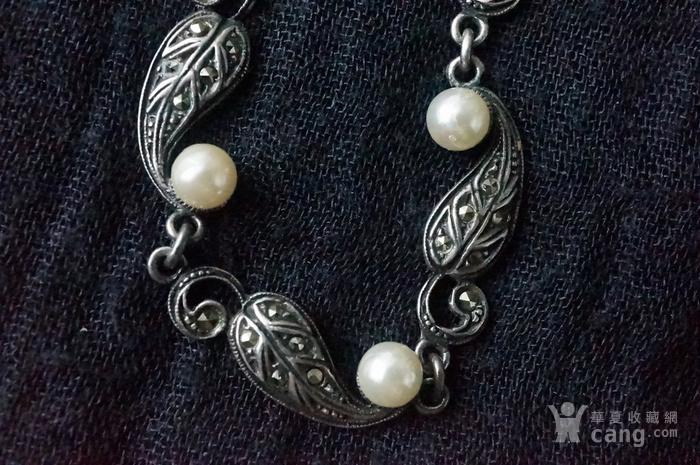 欧美纯银925镶嵌珍珠手链特价图8
