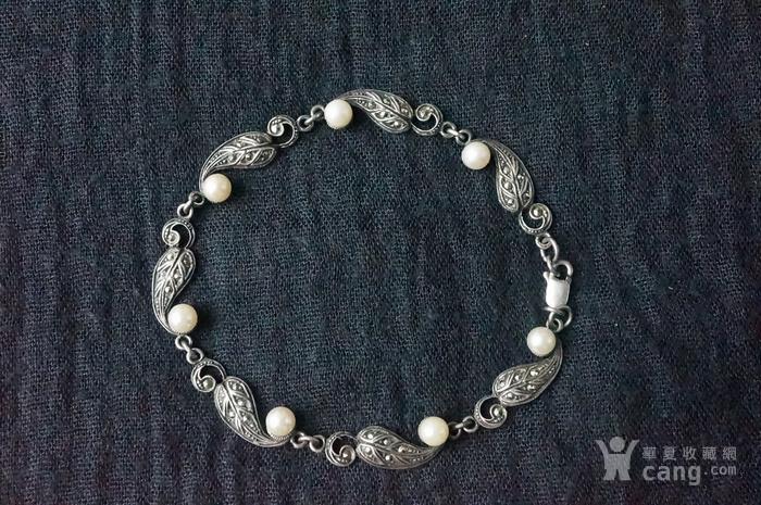 欧美纯银925镶嵌珍珠手链特价图2