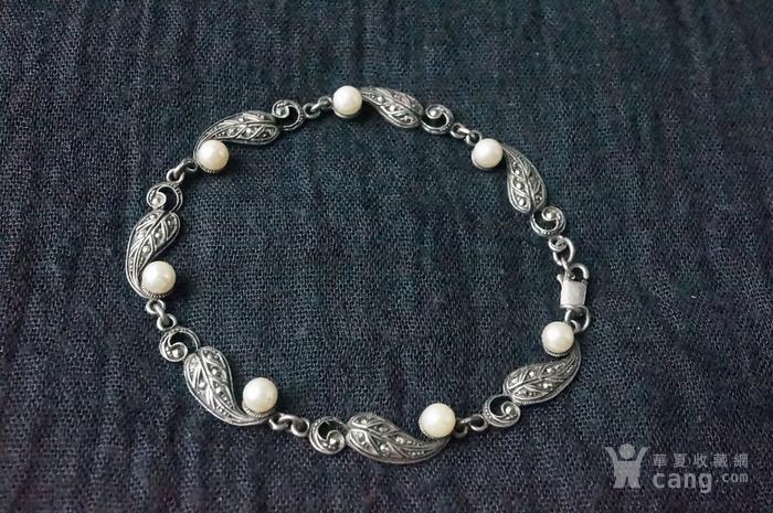欧美纯银925镶嵌珍珠手链特价图9