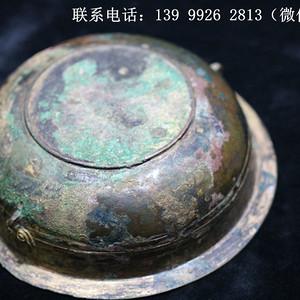 铜器鎏金刻花铜盏