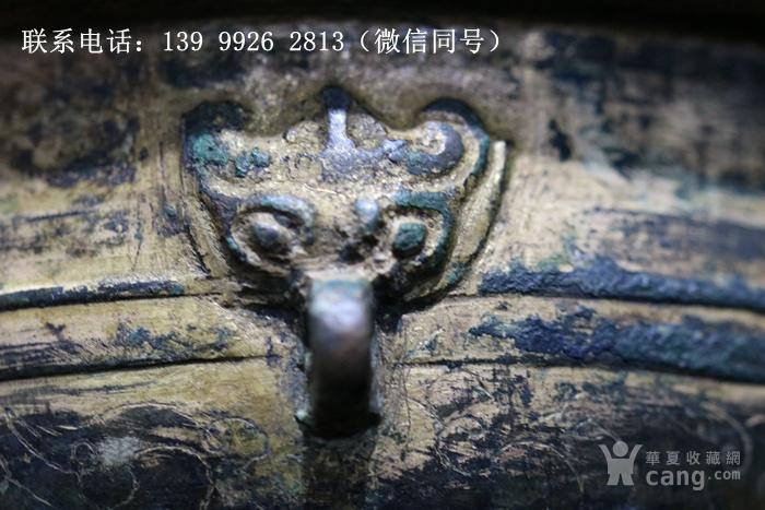 铜器鎏金刻花铜盏图3