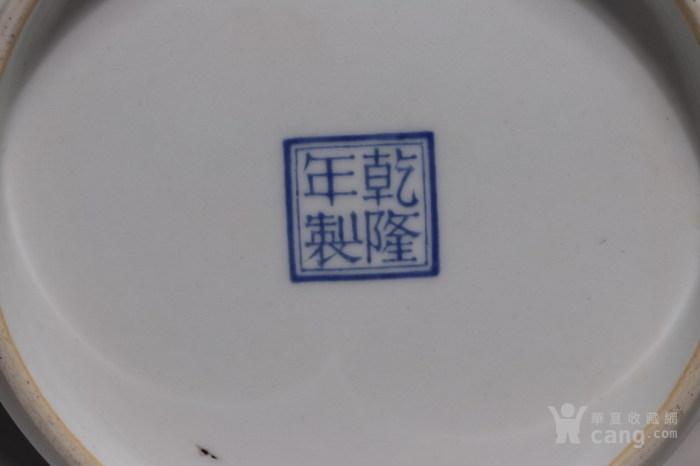 清代     青花缠枝山水人物花瓶图12