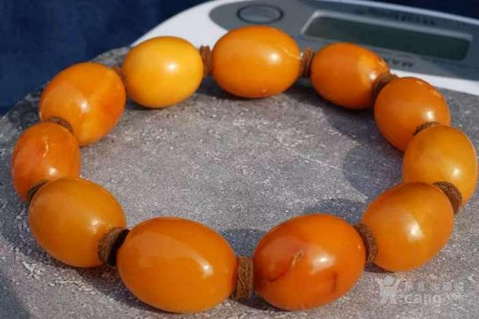 德国回流天然波罗的海老红蜜蜡圆珠手串 高贵典雅图1