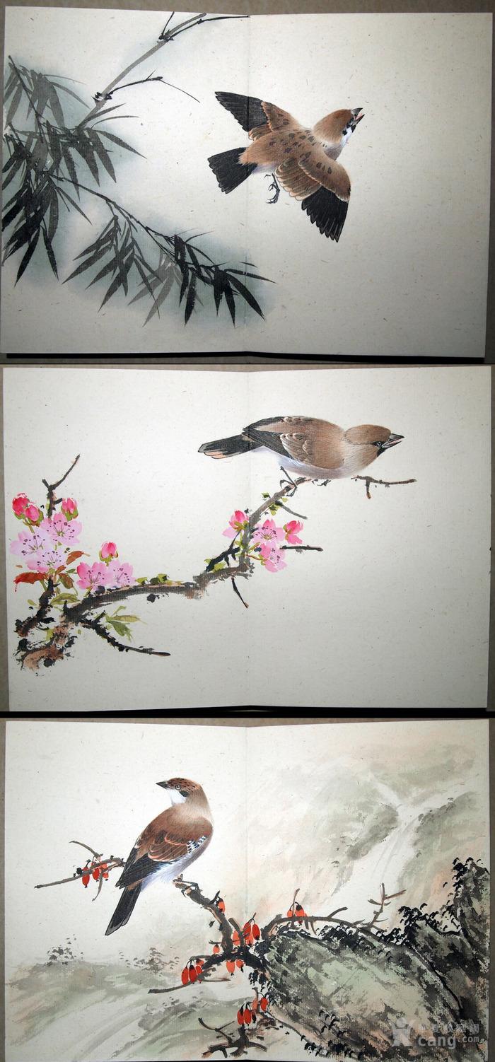 天津名家 郑连群 《花鸟册》图3