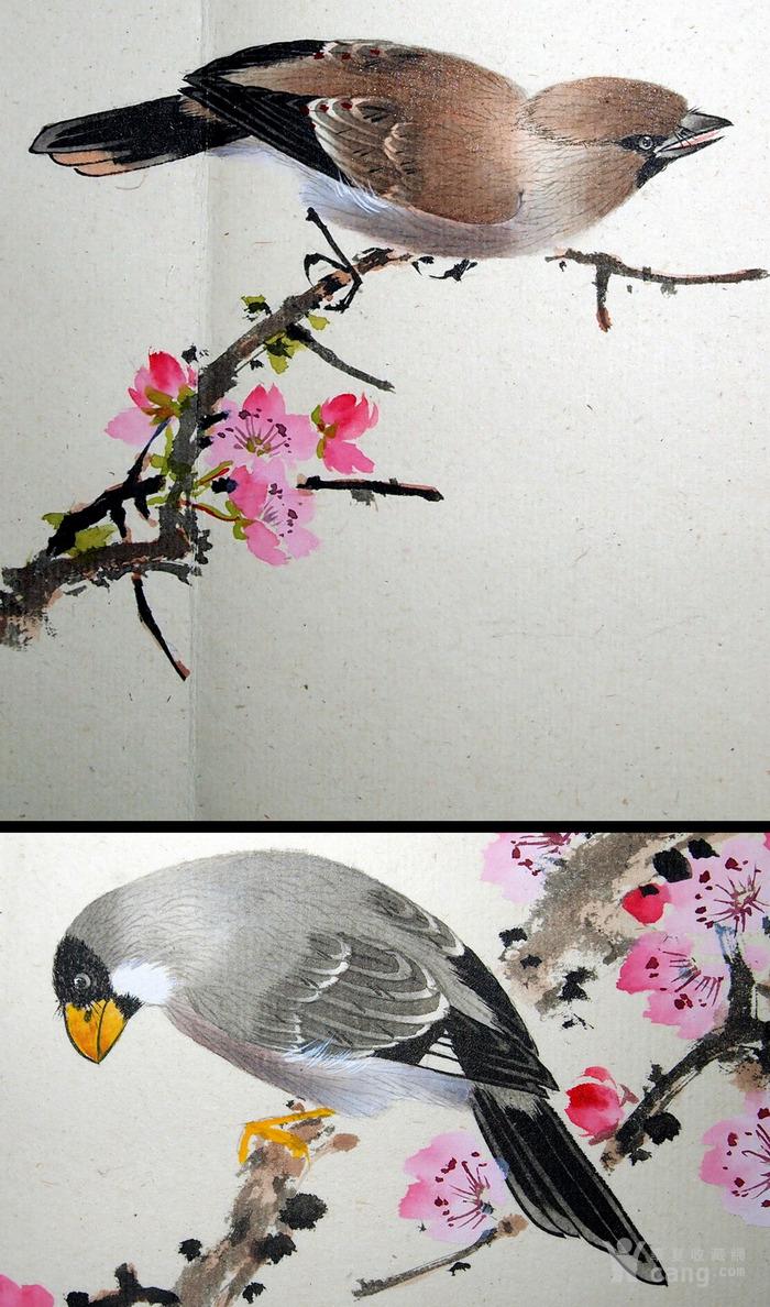 天津名家 郑连群 《花鸟册》图7