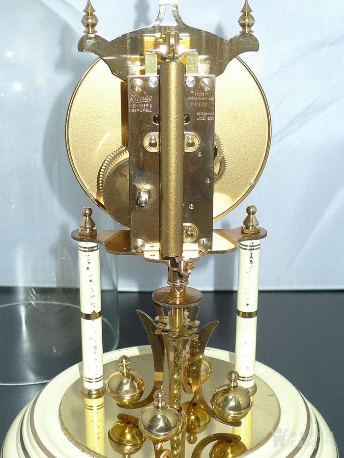 1960年代西德产Kieninger肯宁家400天座钟 年钟图7
