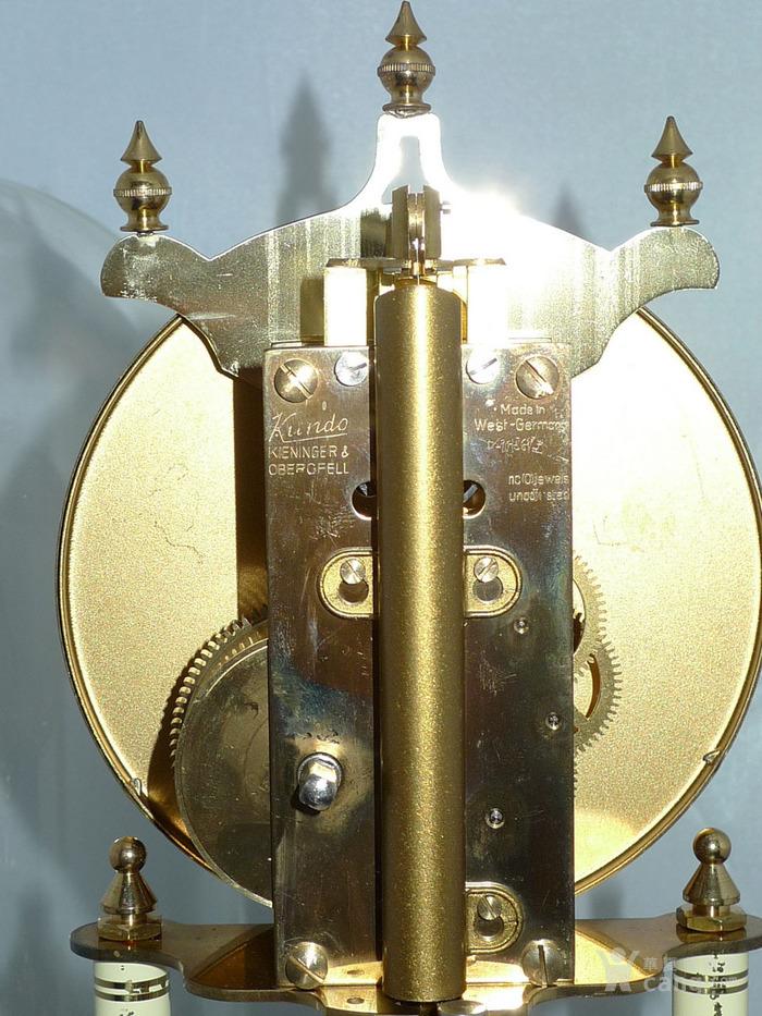 1960年代西德产Kieninger肯宁家400天座钟 年钟图8