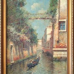 百年意大利风景油画  包老  包退
