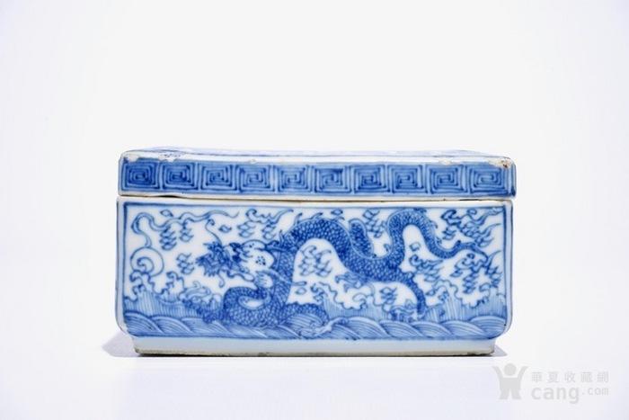康熙青花龙纹四方盖盒  北京现货图2