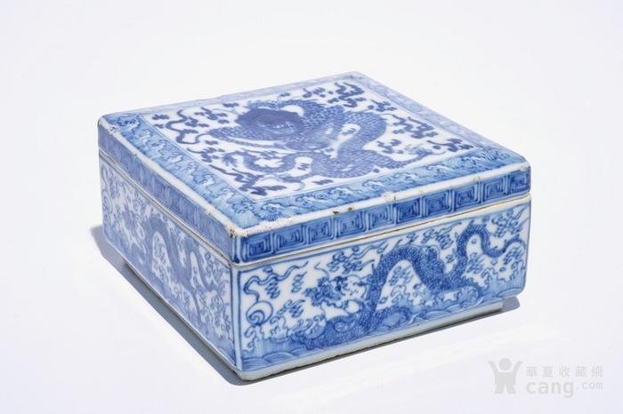 康熙青花龙纹四方盖盒  北京现货图6