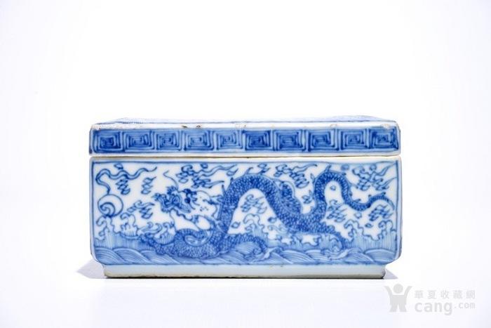 康熙青花龙纹四方盖盒  北京现货图3