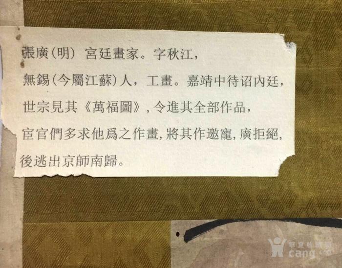 明代  宫廷画家  张广《一枯一荣图》图5