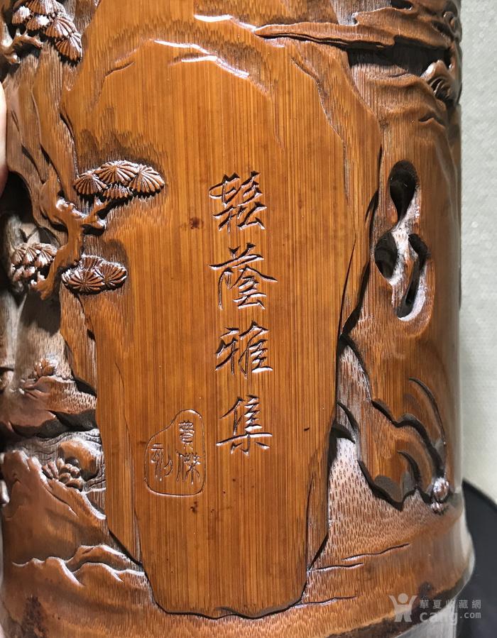 清代 竹雕人物故事文房笔筒 精品图6