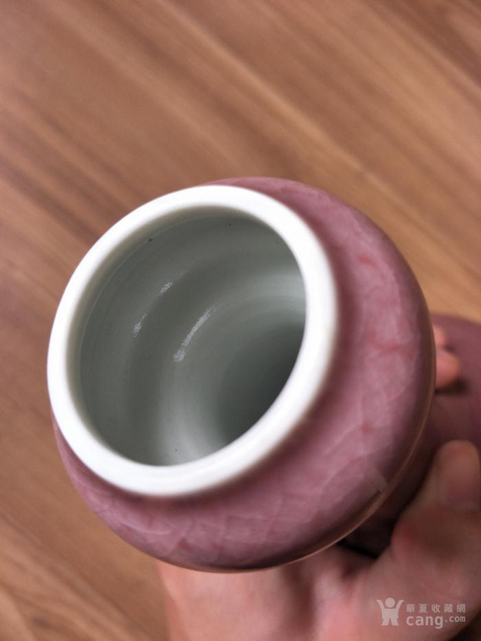 乾隆官窑豇豆红釉蒜头瓶图5