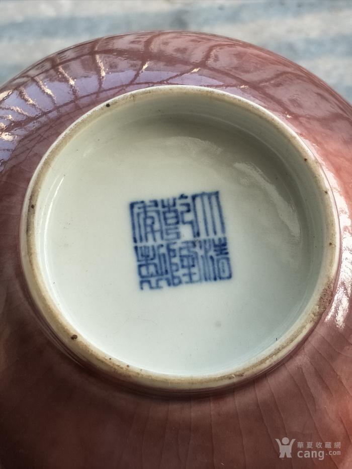 乾隆官窑豇豆红釉蒜头瓶图7