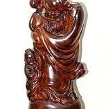 宏乐珠宝天然海南黄花梨摆件寿星公长寿随形手工雕刻水波纹