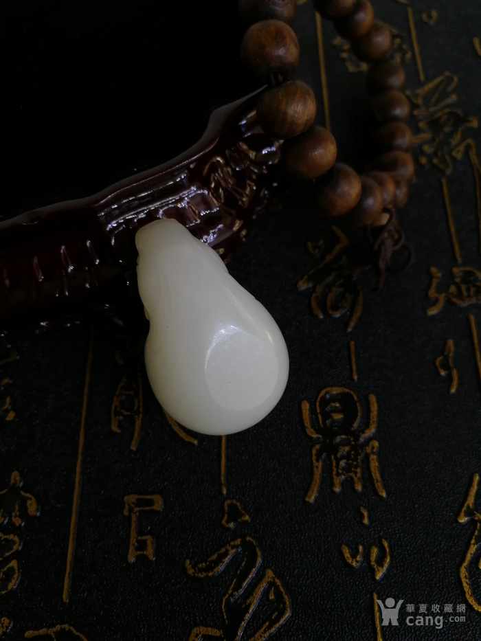 新品包邮新疆和田玉羊脂白玉籽料 龙龟祥杯 苏工工艺图9