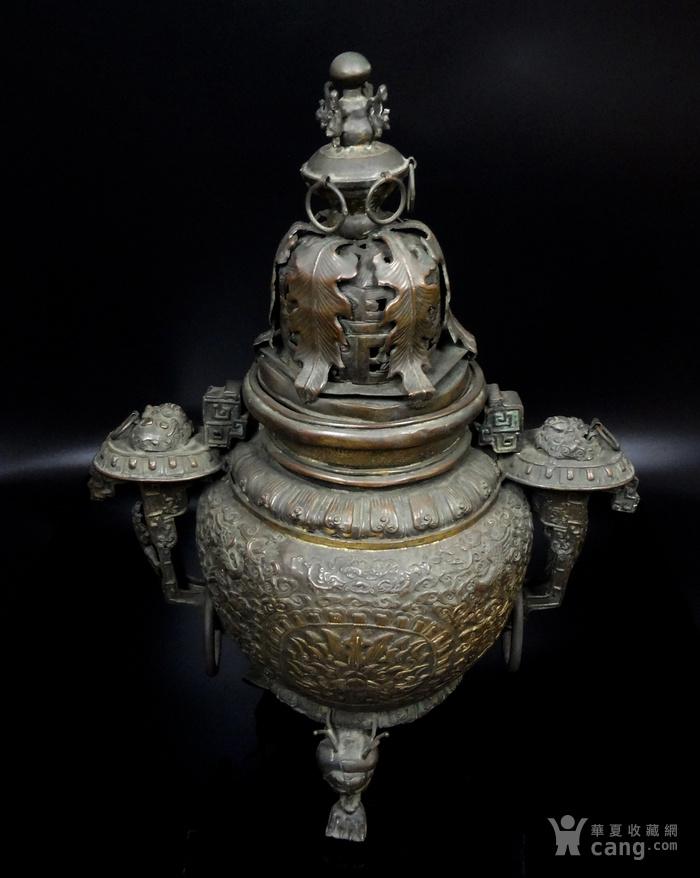 清 白铜铜熏炉图4