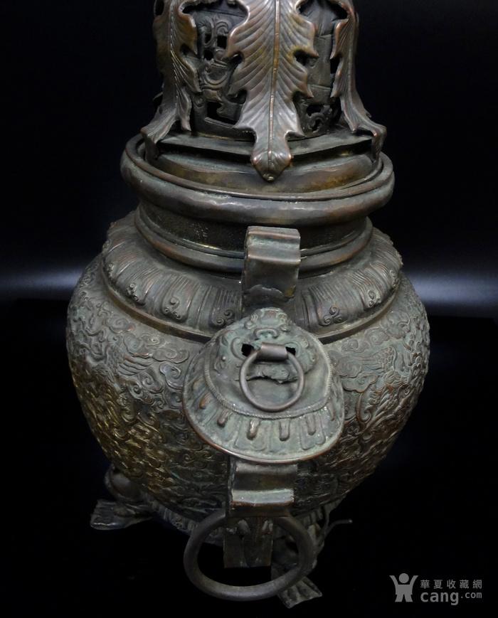 清 白铜铜熏炉图8