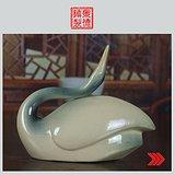 景德镇文革老厂瓷器 雕塑瓷 《天鹅》