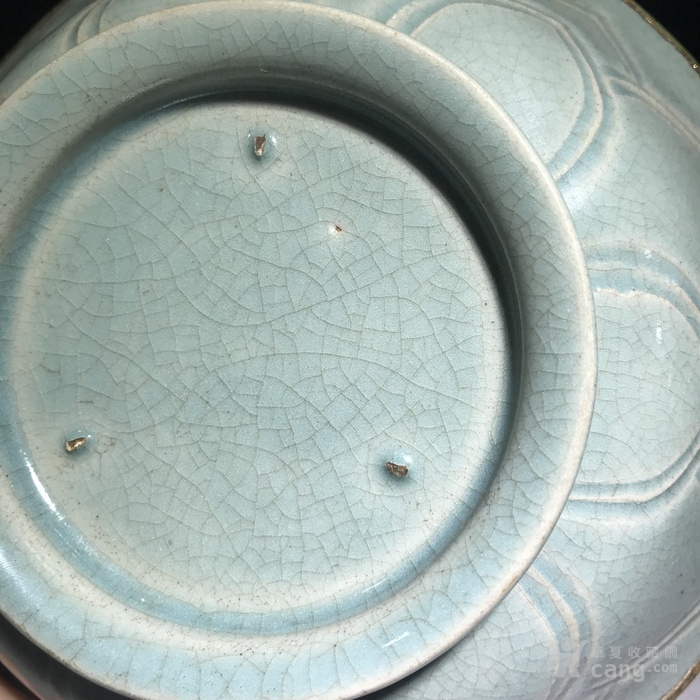 宋代 莲瓣纹青瓷碗图7