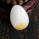 新品包邮一口价新疆和田玉羊脂白玉籽料挂件侧面佛普度众生
