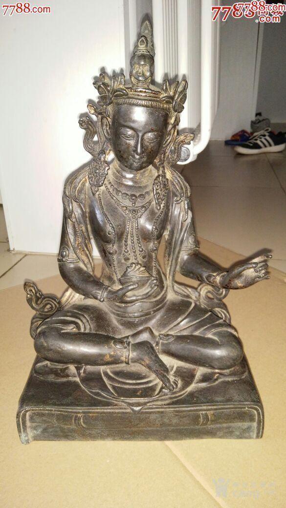 妙善观音菩萨,纯铜的,寺庙观音菩萨图2